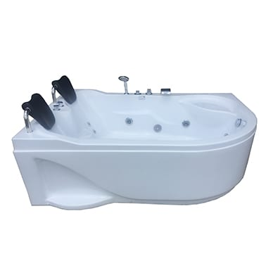 Double spa bath with head rest