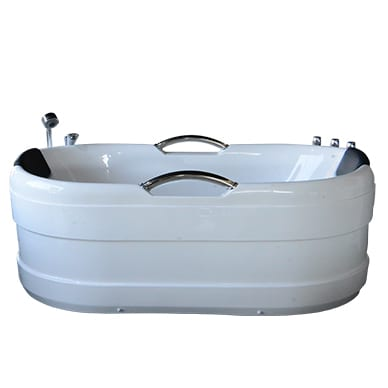 Single sharing bath with silver handles