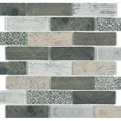 iTILE Mosaic Dark Woodlook Tile
