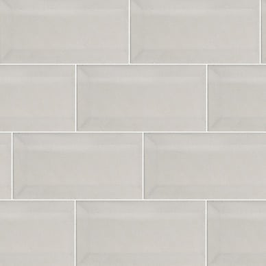 iTILE Subway Tiles White Bevelled