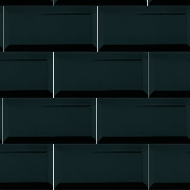 iTILE Subway Tiles Black Bevelled