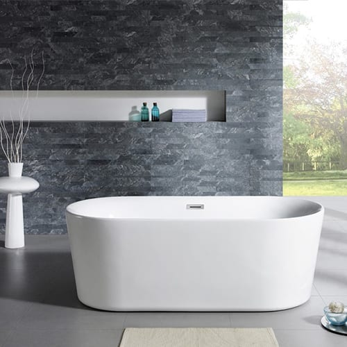 Bathrooms and products, including baths, basins, sinks, taps, shower heads and toilets.